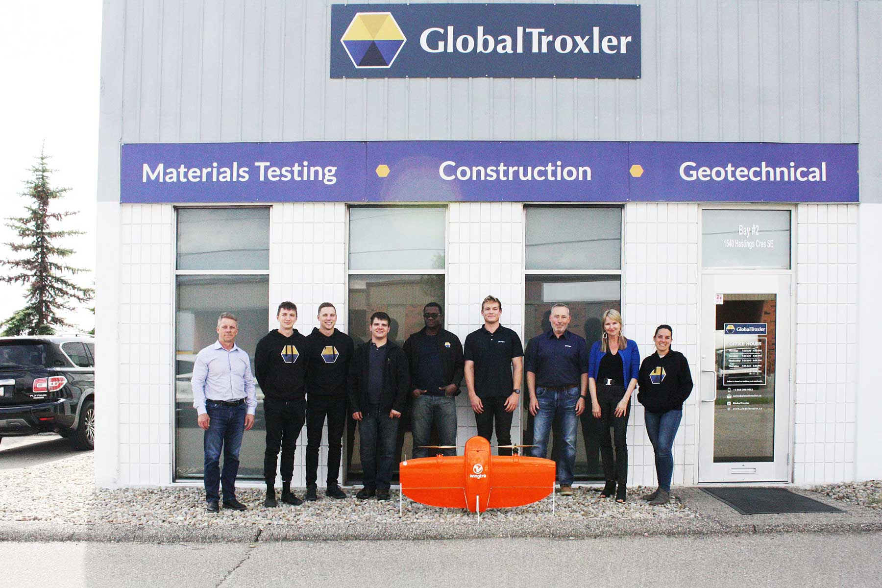 Wingtra and Global Troxler teams in Canada